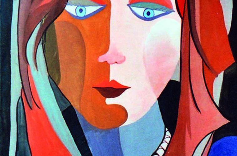 1973 Figlia, tempera su cartoncino, cm. 50x70