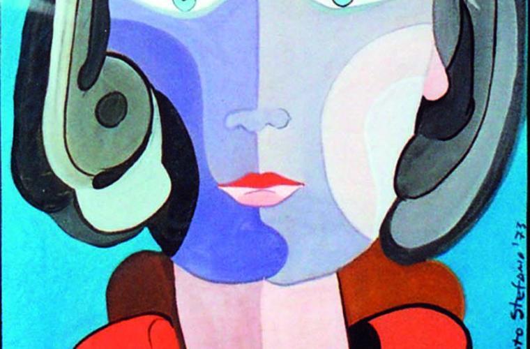 1973 Madre, tempera su cartoncino, cm. 50x70