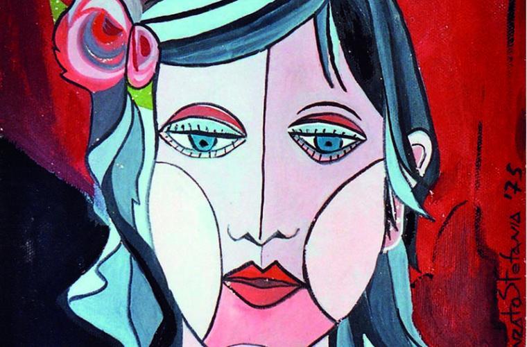 1975 Fior di donna, tempera su cartoncino, cm. 30x70